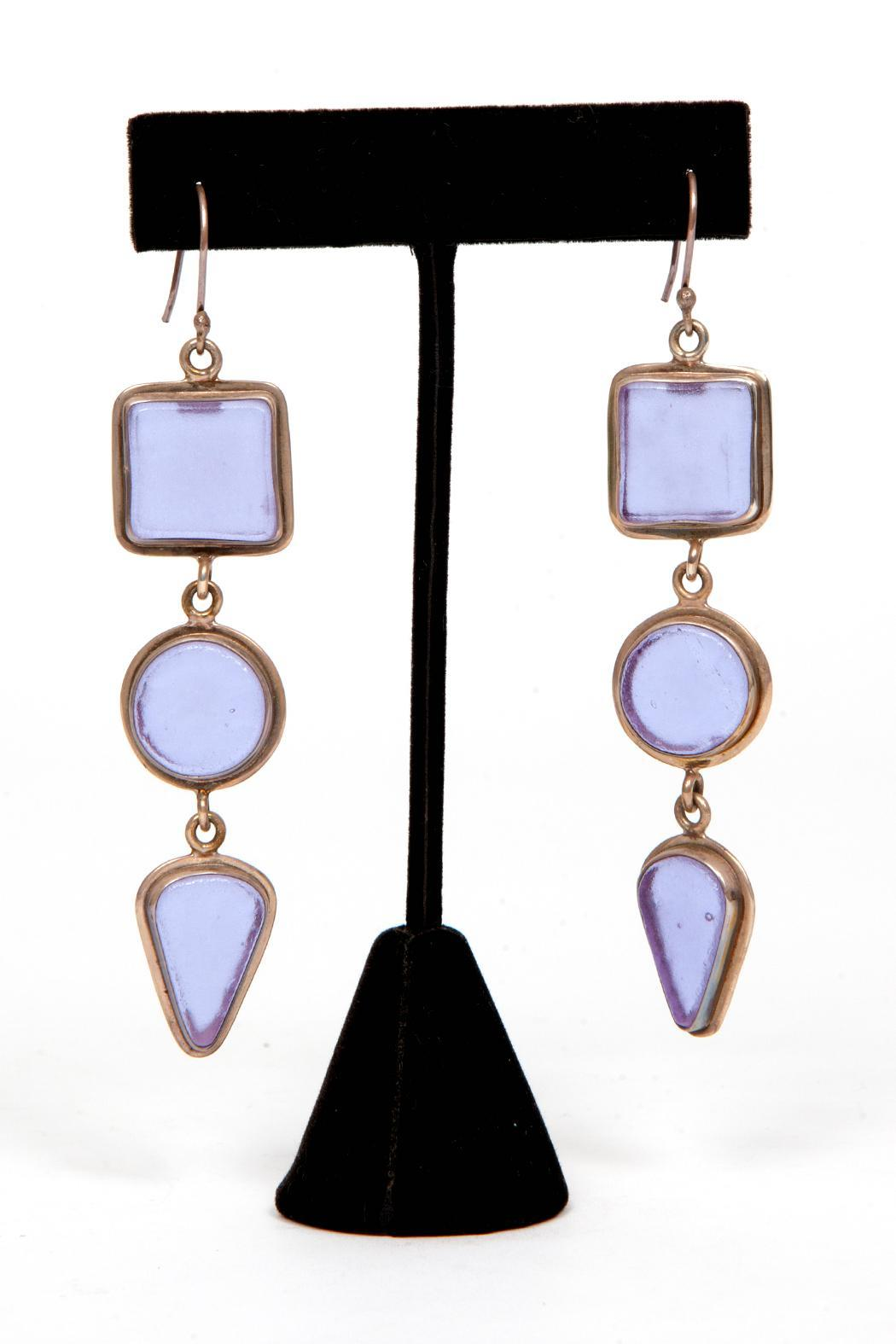 Just Tantau 3-Piece Beachglass Earrings - Front Full Image
