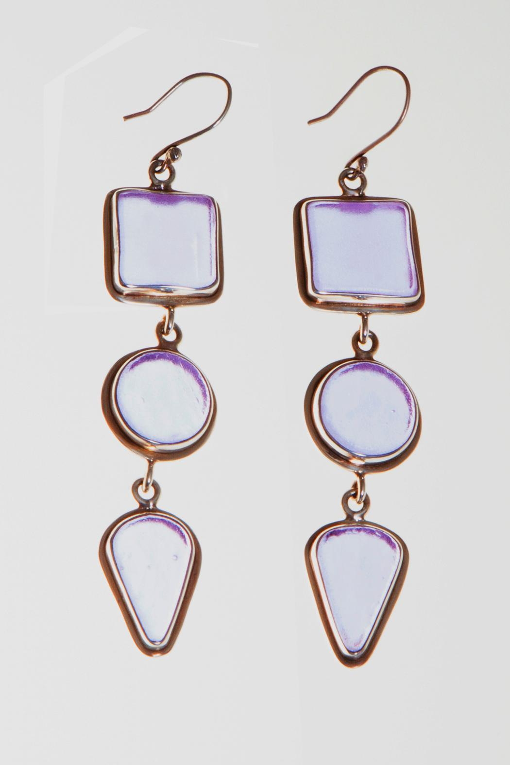 Just Tantau 3-Piece Beachglass Earrings - Front Cropped Image