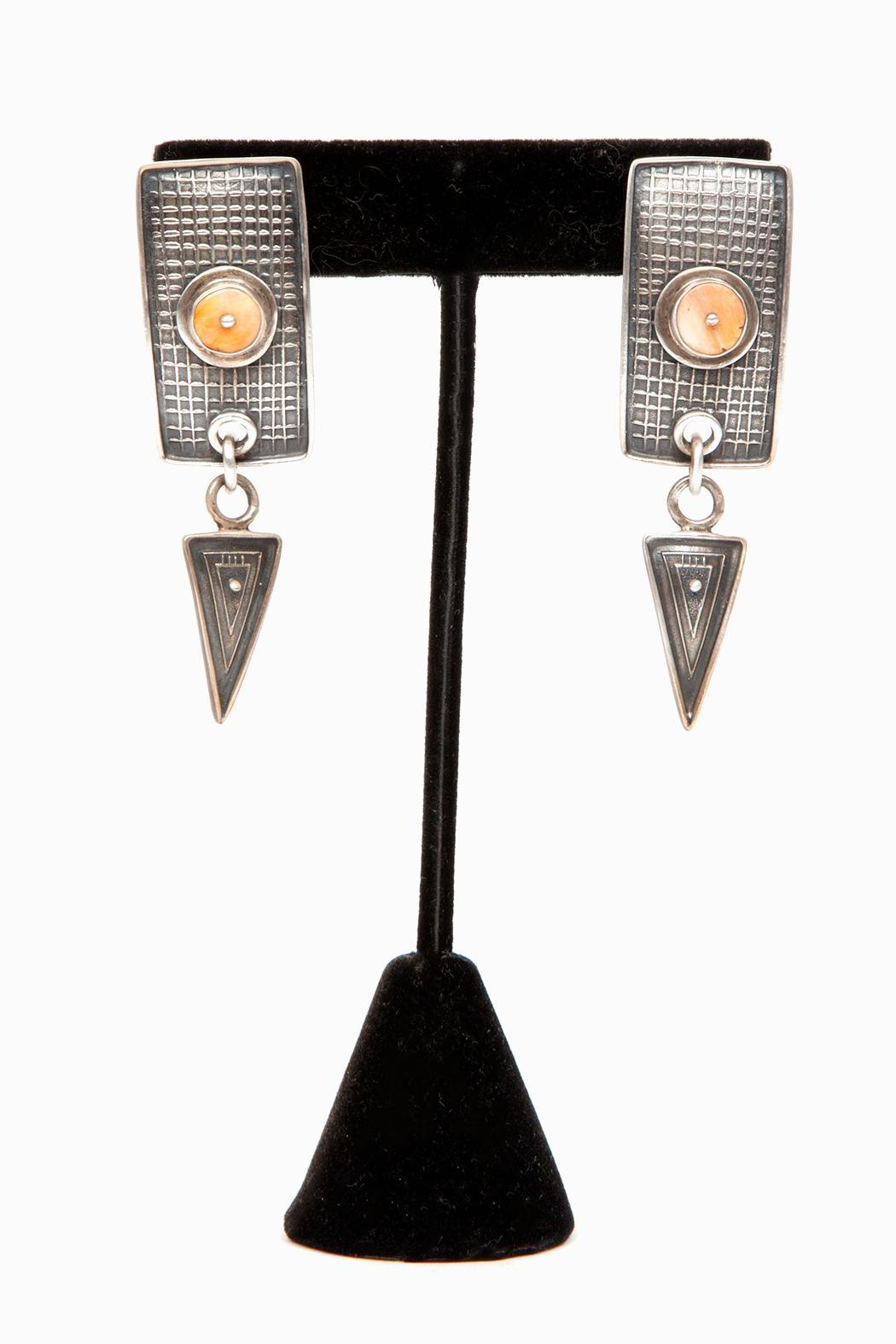 Just Tantau Spiny Oyster Earrings - Front Full Image