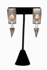 Just Tantau Spiny Oyster Earrings - Front full body