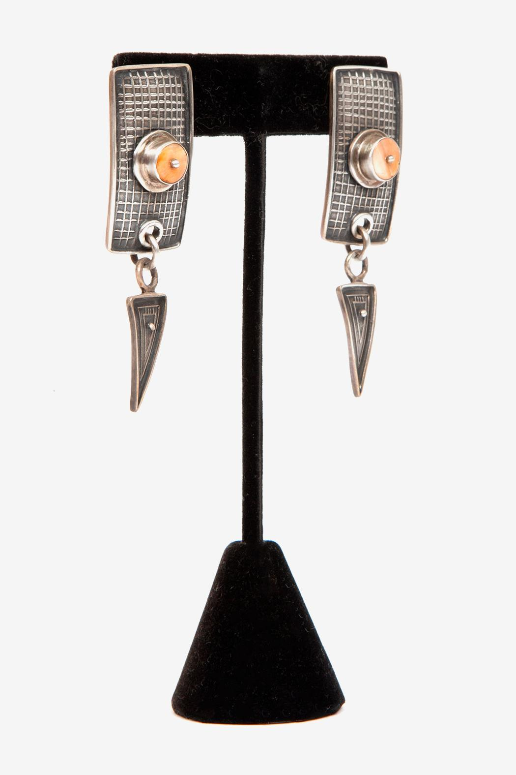 Just Tantau Spiny Oyster Earrings - Side Cropped Image