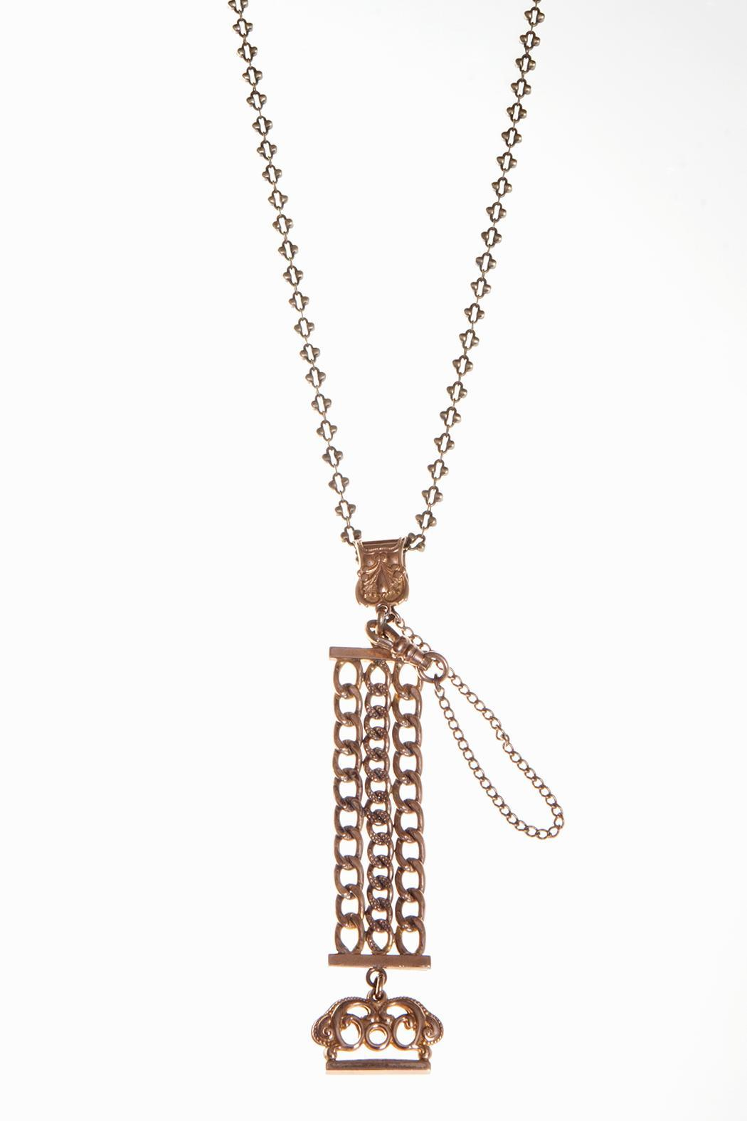 Just Tantau Victorian Watchfob Necklace - Main Image