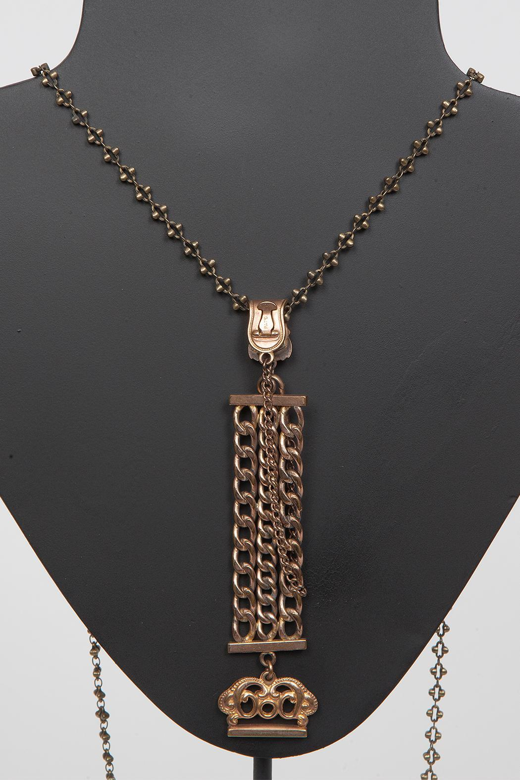 Just Tantau Victorian Watchfob Necklace - Front Full Image