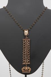 Just Tantau Victorian Watchfob Necklace - Front full body