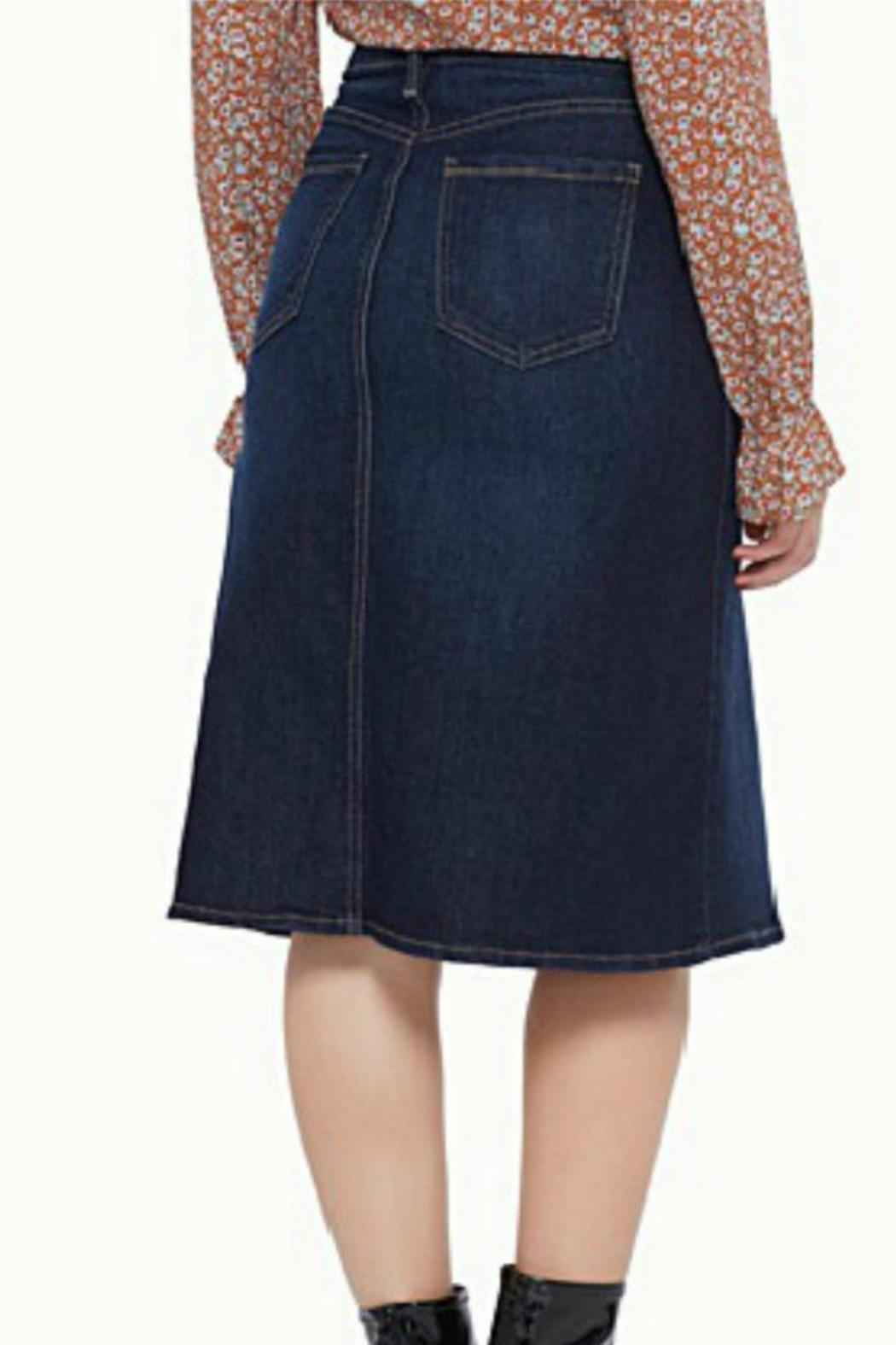 just usa a line denim skirt from providence by of