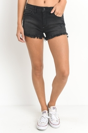 Just USA Black Cutoff Short - Front cropped