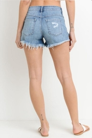 Just USA Button Front Shorts - Back cropped