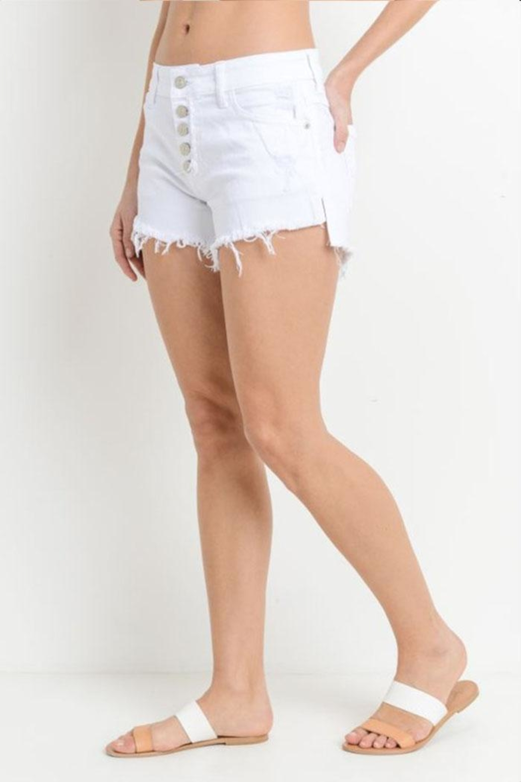 Just USA Button Front Shorts - Front Full Image