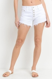 Just USA Button Front Shorts - Front cropped