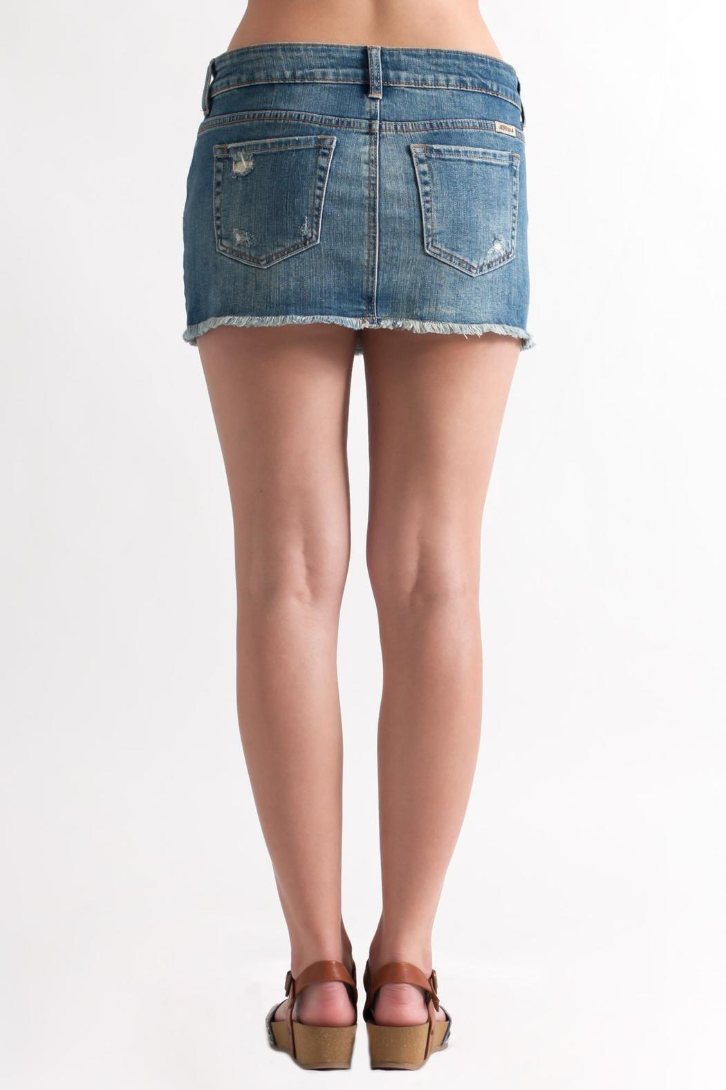 Just USA Destroyed Denim Skirt from Philadelphia by May 23 ...