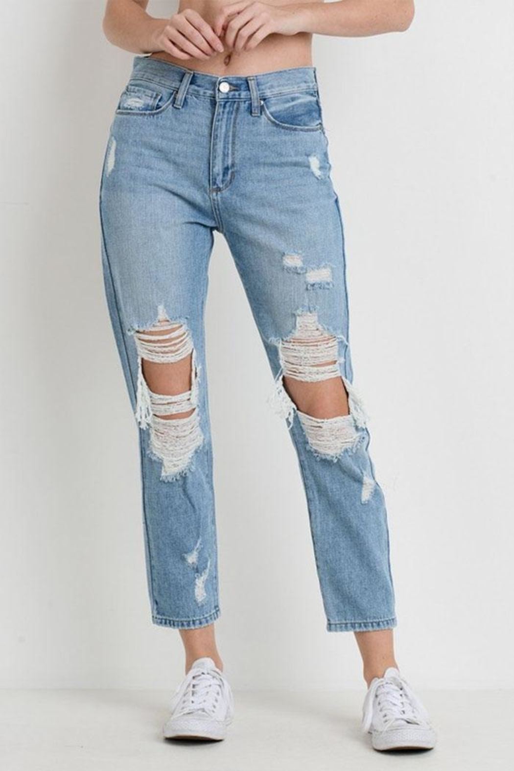Just USA Destroyed Girlfriend Jeans - Main Image