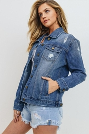 Just USA Destroyed Oversize Jacket - Product Mini Image