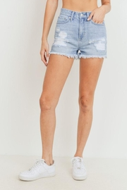 Just USA Distressed Denim Shorts - Product Mini Image