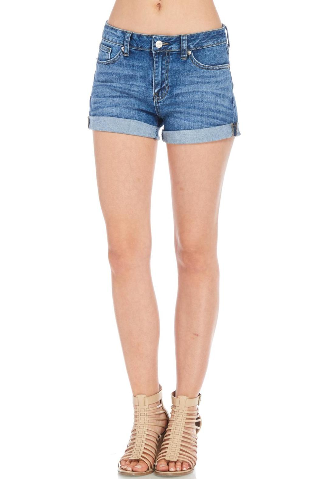 Just USA Classic Denim Shorts - Front Cropped Image