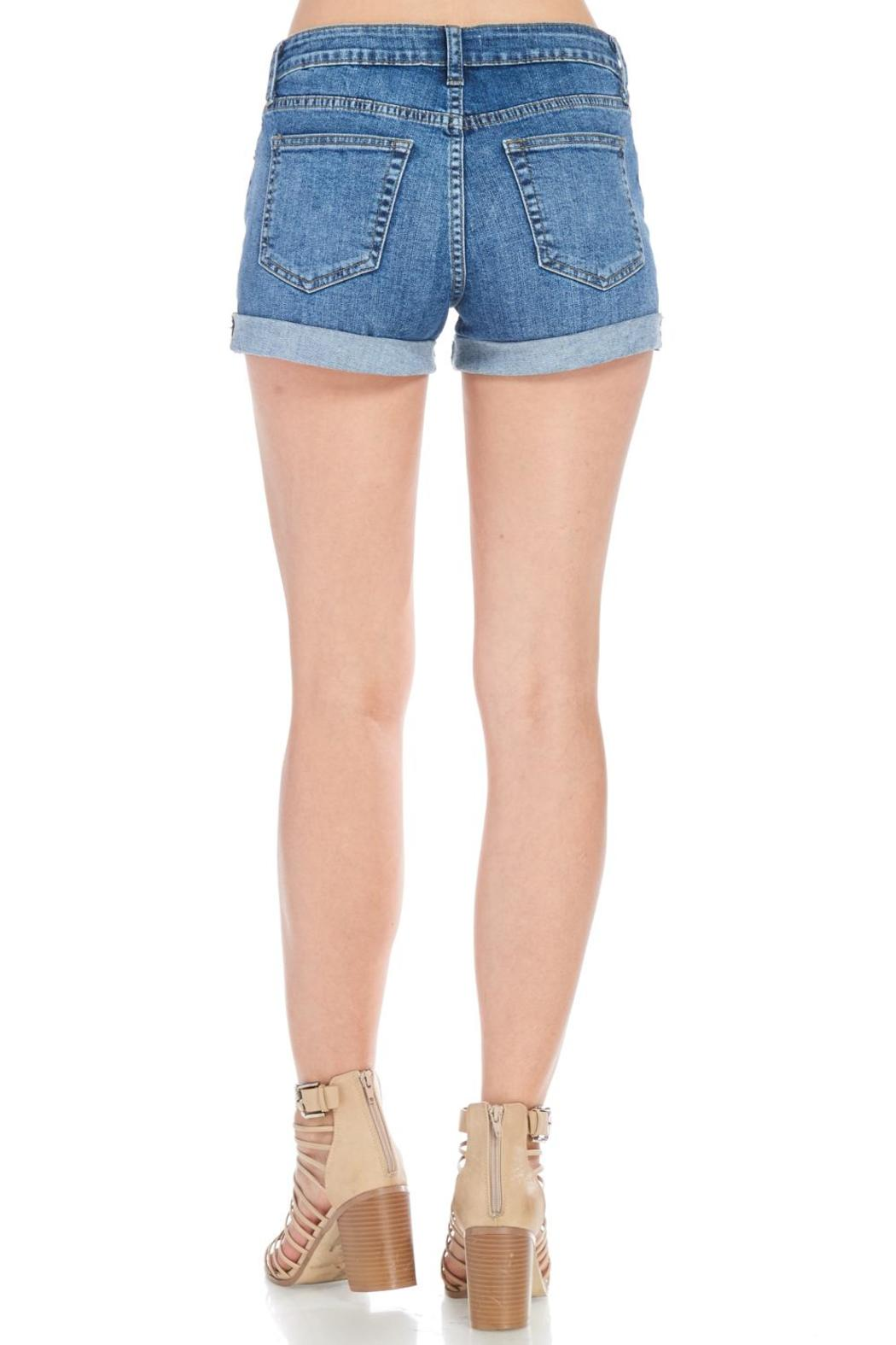 Just USA Classic Denim Shorts - Back Cropped Image