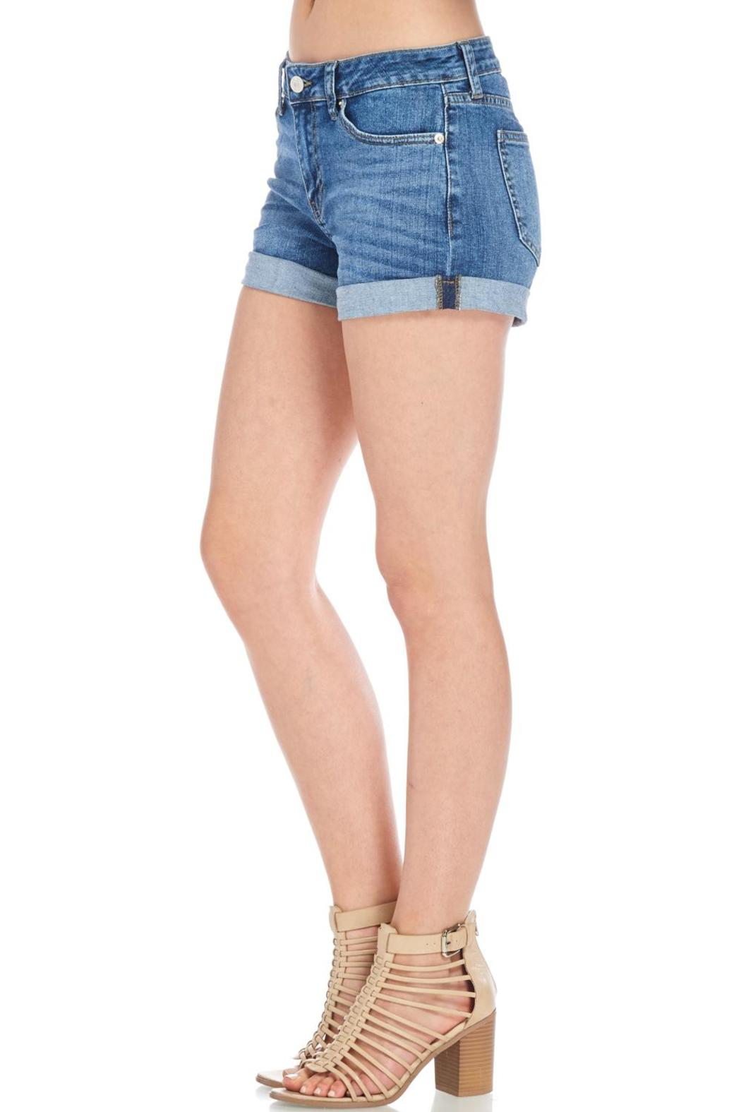 Just USA Classic Denim Shorts - Side Cropped Image