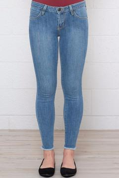 Just USA Frayed Cropped Skinnies - Product List Image