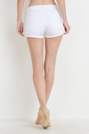 Just USA Hi-Rise Button Shorts - Front full body