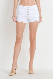 Just USA Hi-Rise Button Shorts - Front cropped