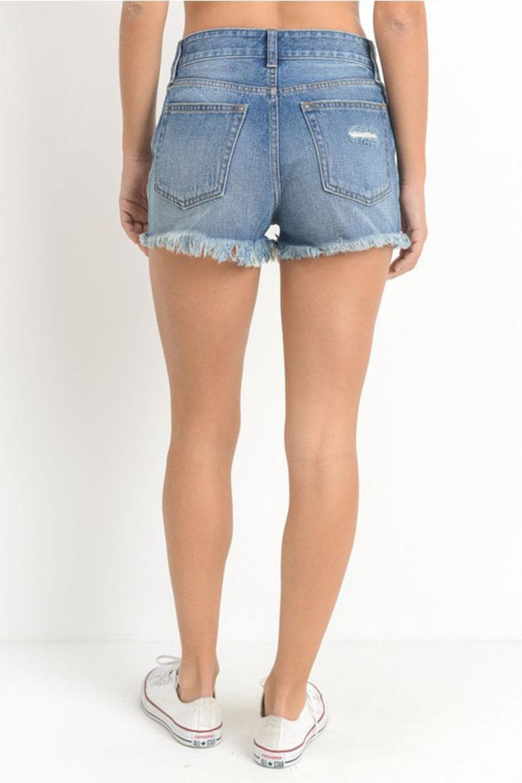 Just USA High-Rise Distressed Shorts - Side Cropped Image