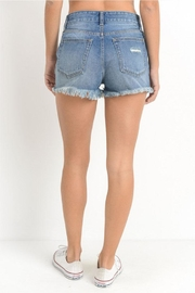 Just USA High-Rise Distressed Shorts - Side cropped
