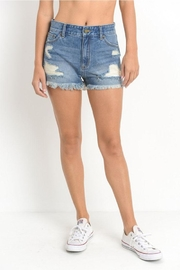 Just USA High-Rise Distressed Shorts - Product Mini Image