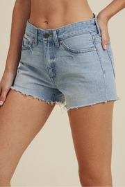 Just USA High-Rise Frayed Short - Front full body