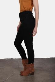 Just USA High Waist Black Jeans - Back cropped