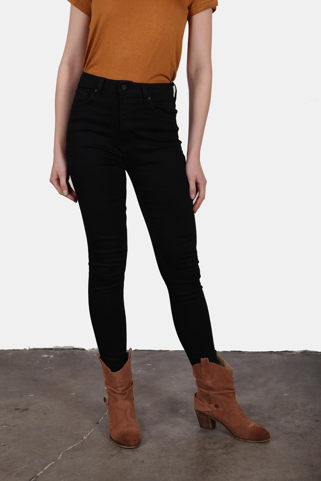 Just USA High Waist Black Jeans - Front Full Image