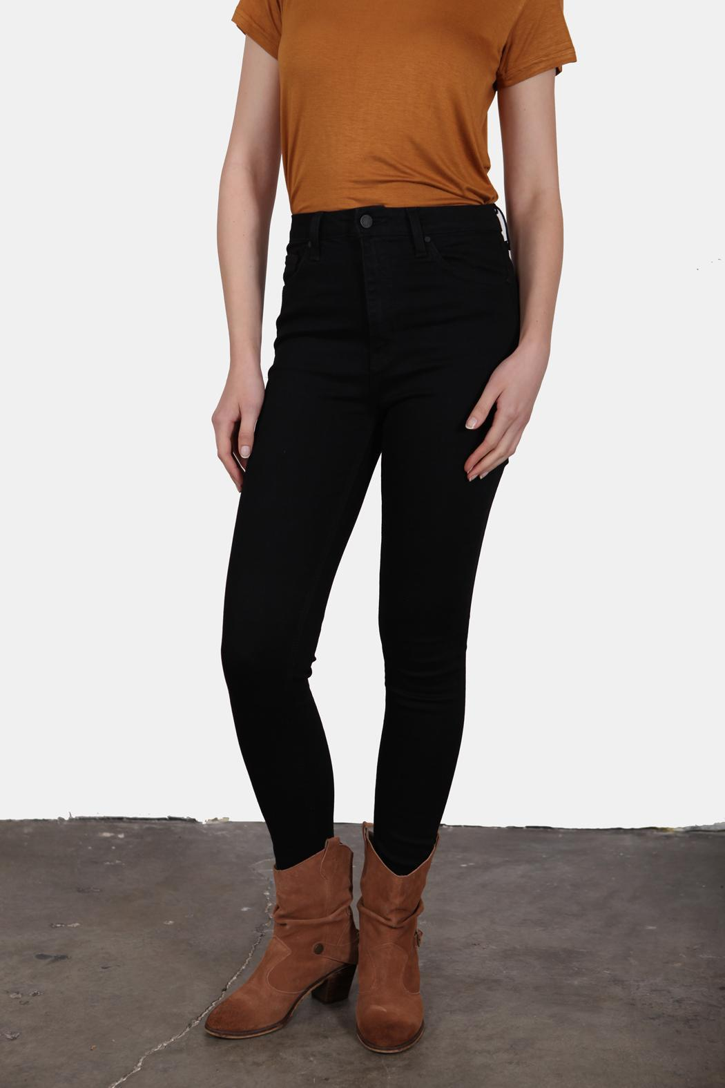 Just USA High Waist Black Jeans - Front Cropped Image