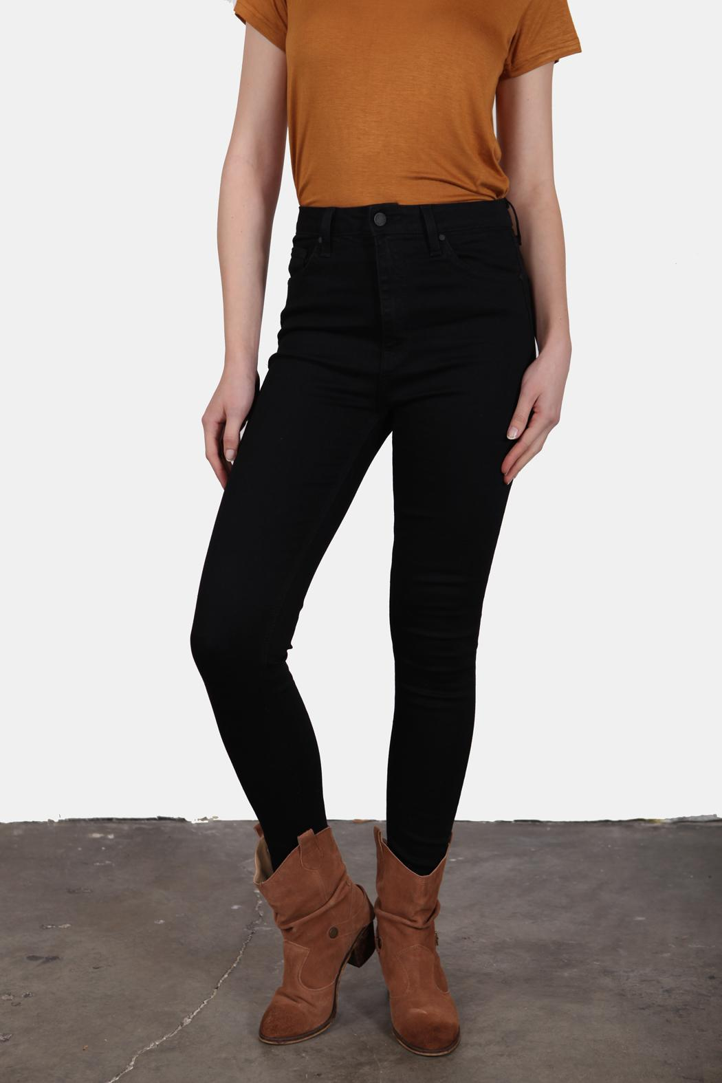 Just USA High Waist Black Jeans - Side Cropped Image
