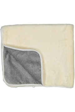 Shoptiques Product: Cream And Grey Fur Blanket