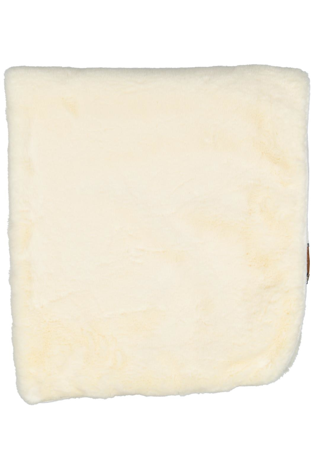 Juste Clé Cream Fur Blanket - Front Full Image