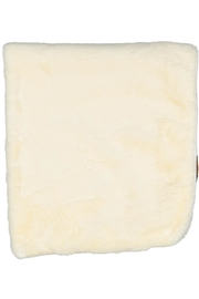 Juste Clé Cream Fur Blanket - Front full body