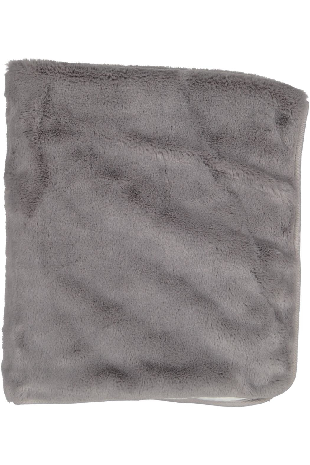 Juste Clé Grey And White Fur Blanket - Front Full Image
