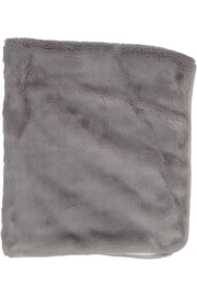 Juste Clé Grey And White Fur Blanket - Front full body