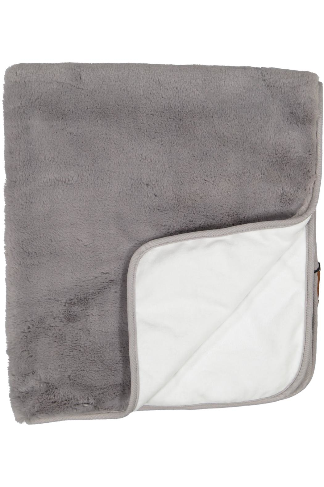 Juste Clé Grey And White Fur Blanket - Main Image