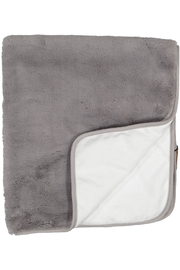 Juste Clé Grey And White Fur Blanket - Front cropped