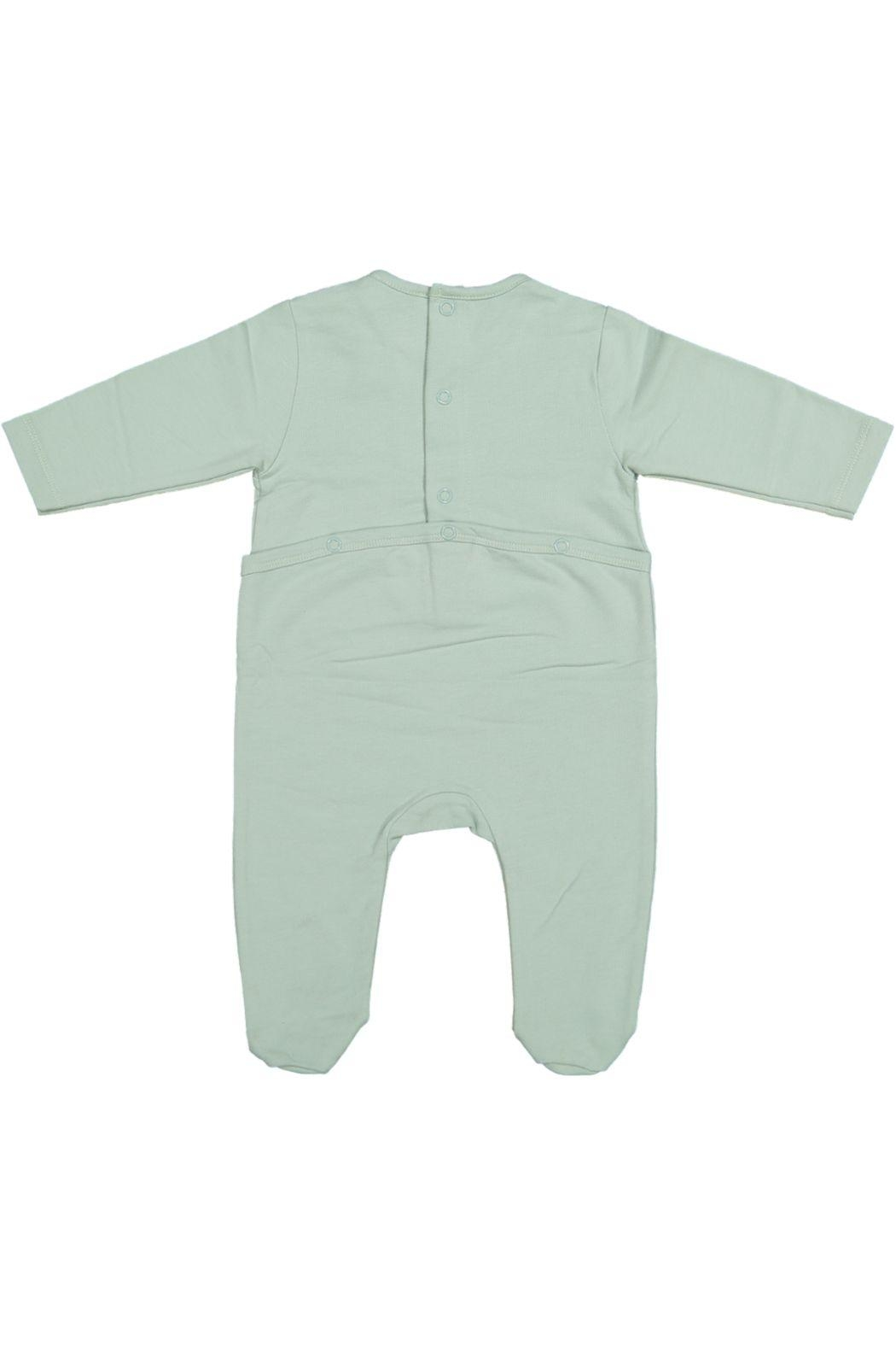 Juste Clé Mint Green Planet Dot Onesie - Front Full Image