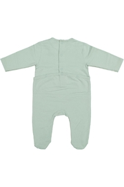 Juste Clé Mint Green Planet Dot Onesie - Front full body