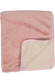 Juste Clé Pink And Beige Fur Blanket - Front cropped