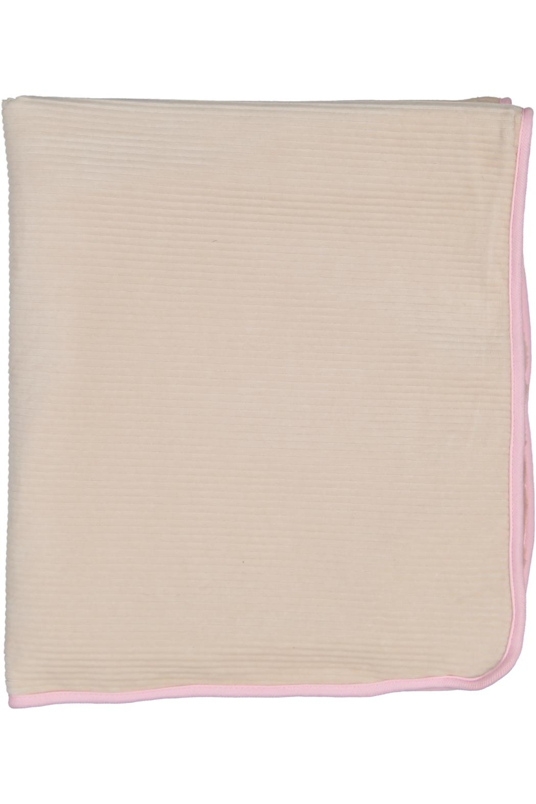 Juste Clé Pink And Beige Fur Blanket - Side Cropped Image