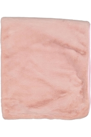 Juste Clé Pink And Beige Fur Blanket - Front full body