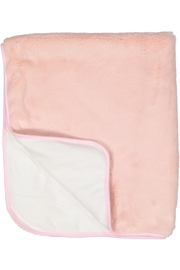 Juste Clé Pink And White Fur Blanket - Front cropped