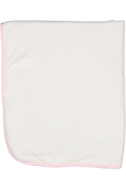 Juste Clé Pink And White Fur Blanket - Side cropped