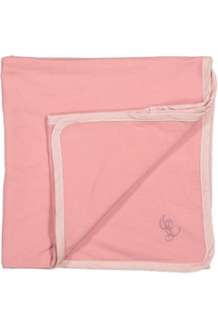 Shoptiques Product: Pink Blanket With Striped Trim