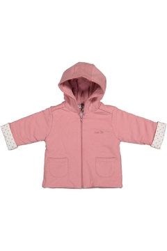 Shoptiques Product: Pink Jacket With Polkadot Cuffs