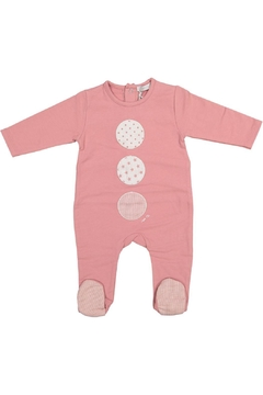 Shoptiques Product: Pink Onesie With Linen Circles