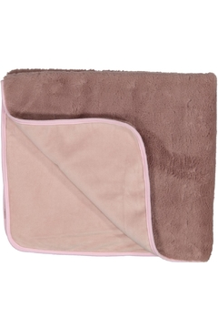 Shoptiques Product: Purple And Pink Fur Blanket