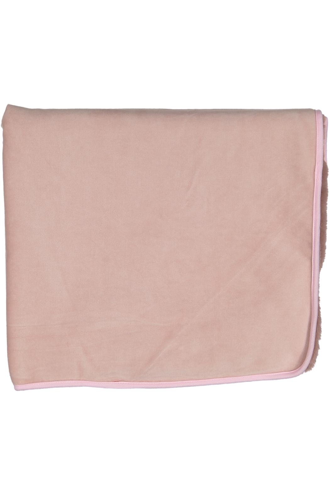 Juste Clé Purple And Pink Fur Blanket - Side Cropped Image